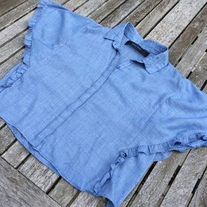Code Mode Blue Chambray Top